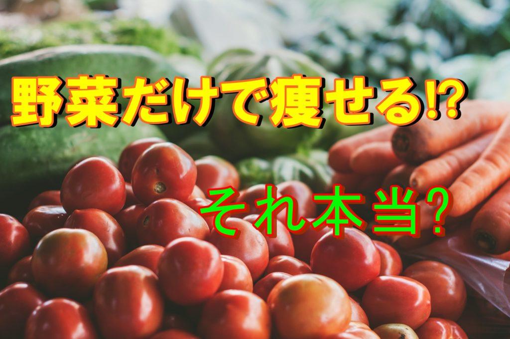 危険【野菜だけのダイエット】は痩せれない!その理由を解説